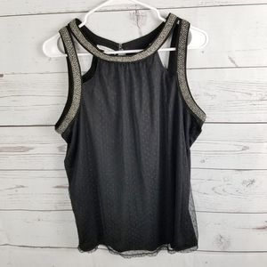 Maurices Tank Top Swiss Dot New Large